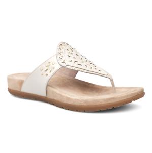 f63803dc2308 Dansko Womens Sandals Benita Full Grain Leather Ivory Size EU 39