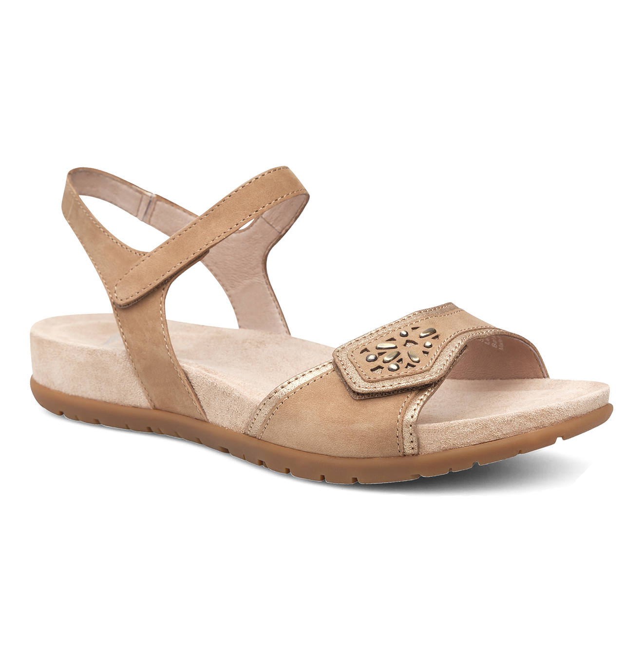 e4b3befbc95 Dansko Womens Sandals Blythe Sand Milled Nubuck Leather Size EU 39 ...