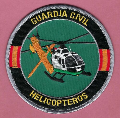 SPAIN GUARDIA CIVIL HELICOPTEROS POLICE HELICOPTER UNIT PATCH