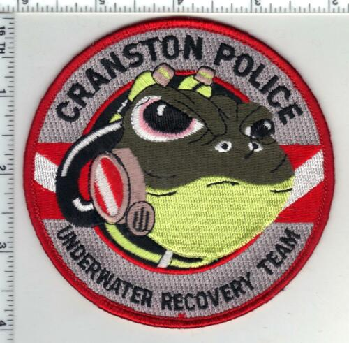 Cranston Police (Rhode Island) 1st Issue Underwater Recovery Team Shoulder Patch