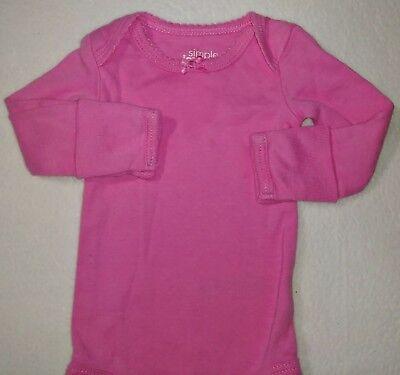 Simple joys Preemie girl Pink Cotton long sleeve -