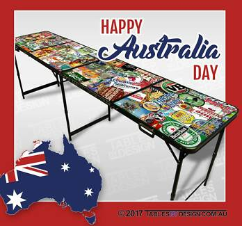 Brand New BEER LABEL BeerPong Tables (Cash PickUp & Delivery Av.) Lonsdale Morphett Vale Area Preview