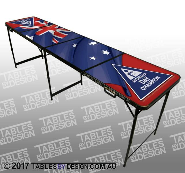 1x AUSSIE FLAG BeerPong Table (Cash PickUp & Delivery Av.)
