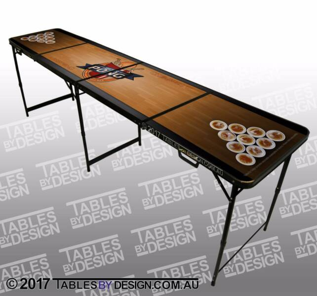 Brand New TABLE OF DREAMS Beer Pong Tables inc. 2trays & 6balls