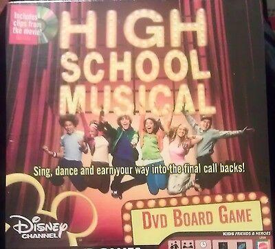 Disney High School Musical Kid Dvd Board Game Song Dance Music Movie Mattel