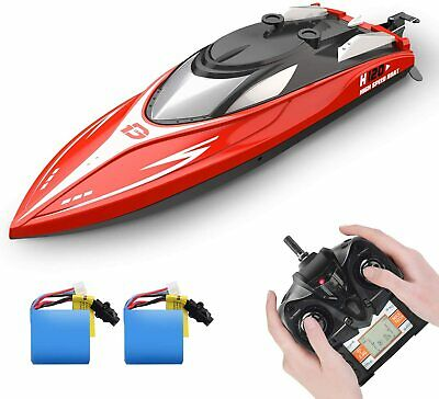 H120 RC Boats Capsize Recovery 20+ mph 2.4 GHz Racing Boats with 2 Battery Gift