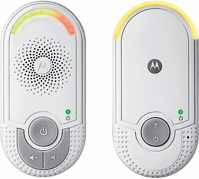 Motorola MBP8 Audio Baby Monitor with Wall Plug Baby and Parent Unit Night Light