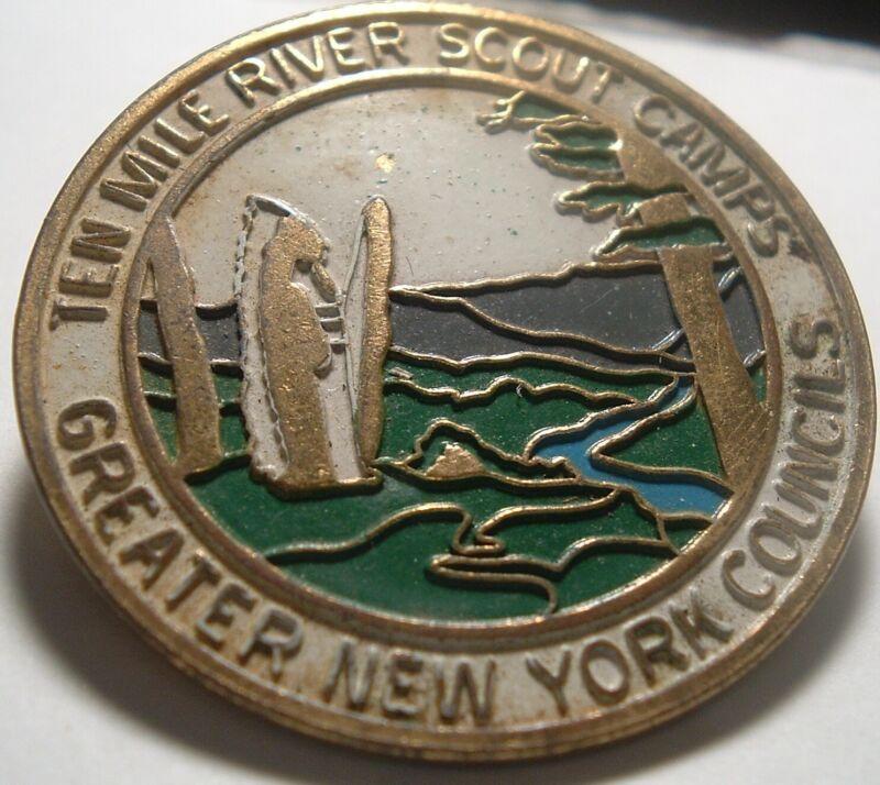 Vintage BSA Neckerchief Slide Ten Mile River Scout Camp Boy scouts America