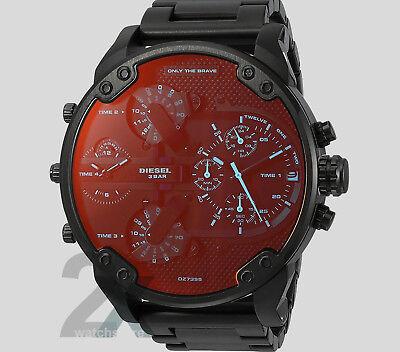 NEW Diesel DZ7395 Men's MR DADDY 2.0 Black IP Stainless Steel Strap Watch In Box