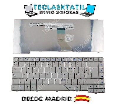 TECLADO ACER ASPIRE 5920 5920G SERIES GRIS / BLANCO NUEVO EN ESPAÑOL...