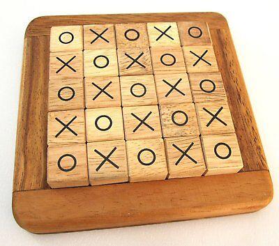Toe Strategiespiel Legespiel Brettspiel Denkspiel aus Holz  (Tic Tac Spiel)