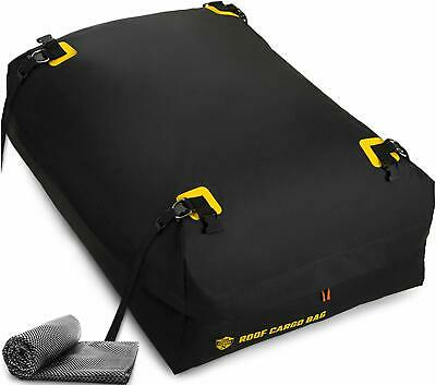 Car Top Carrier Roof Bag w/Protective Mat Waterproof & Coated Zipper 15 Cubic ft