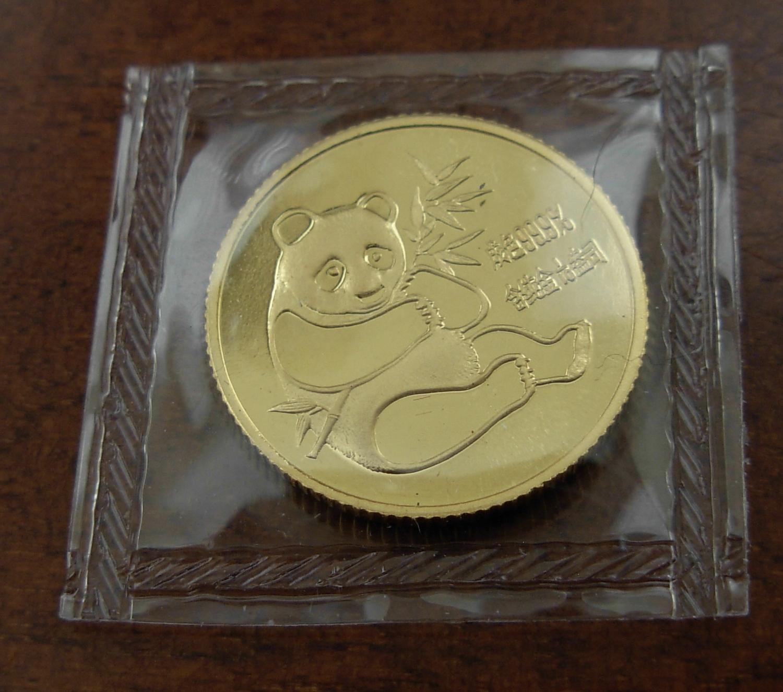 China 1982 Gold 1/10 Oz Panda Original Mint Sealed BU - $318.88