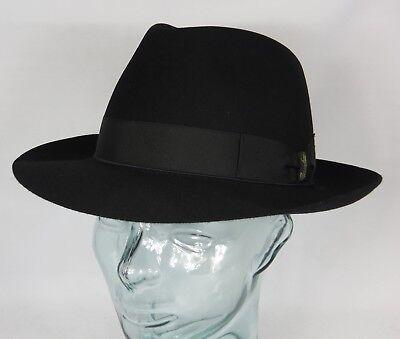 Origi. BORSALINO HUT Qualita Superiore Haarfilz schwarz Fedora - Schwarzen Filz Fedora Hut