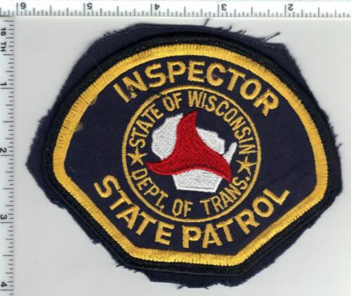 State Patrol Inspector (Wisconsin) 1st Issue Uniform Take-Off Shoulder Patch