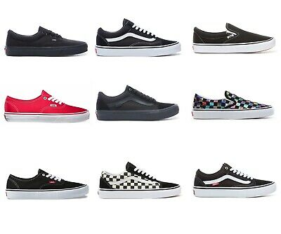 VANS Old Skool, Era, Authentic, Slip On's Various Colours Skate Trainers, Unisex