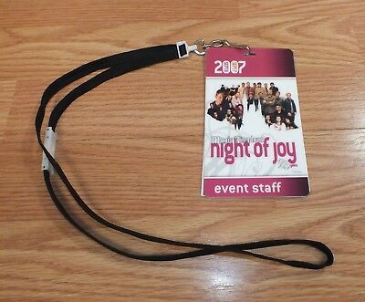 September 2007 Magic Kingdom Night of Joy Even Staff Cards & Lanyard **RARE**