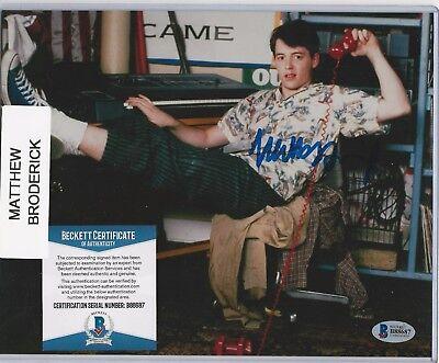 MATTHEW BRODERICK -FERRIS BUELLER- 8x10 Autograph- Leaf Pop Century BAS COA