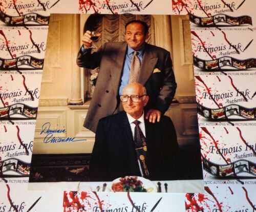Dominic Chianese Autographed The Sopranos Custom 11x14 Photo W/James Gandolfini