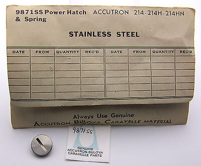 Stainless Accutron 214 Battery Hatch Cover, Contact Spring And Gasket 9871ss