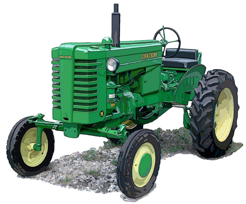 John Deere Model M canvas art print by Richard Browne farm tractor