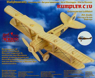 "3D-Puzzle Holzbausatz Flugzeug ""Rumpler C IV"" 21 x 14,5 x 6 cm ab 8 Jahre"