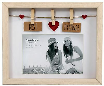 Clothes Line Wooden Box Frame With Pegs For 6 X 4 Photo - Best