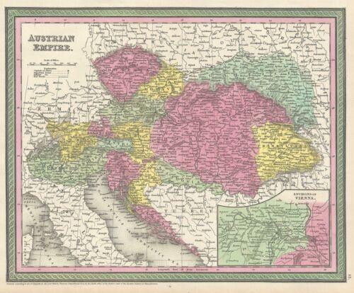 1854 Mitchell Map of Austria