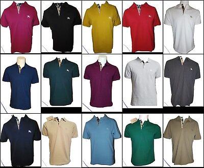 Burberry Brit men's short sleeve nova check placket polo shirt -