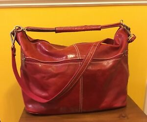 EUC Cuoieria Fiorentina Italian Leather Tote Overnight Bag