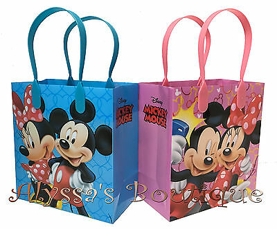 30 pc Minnie Mickey Mouse Party Favor Goodie Bags Gift Birthday Treat Candy Sack - Mickey Treat Bags