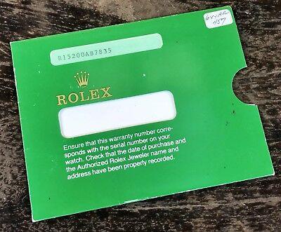 ROLEX Envelope Warranty Customer Service Oyster Perpetual Date 15200 Steel