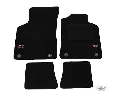 LUKAU010 TAILORED Black floor Car Mats with logo  Audi TT mk1 1999 2006  4pcs
