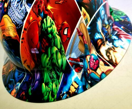 FULL BRIM Hard Hat custom hydro dipped , NEW SUPER HEROES END GAME NEW PYRAMEX 4
