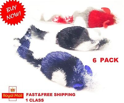 6 Mouse Mice Cat Kitten Drives Cats Crazy Fun Play Exercise Toys Soft Cat Toy