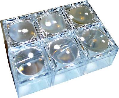 6 Stk. Mini Lupendose Becherlupe klein mit 5fach Vergößerung klarsichtig