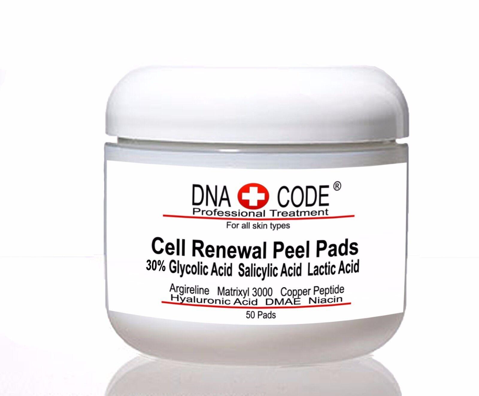 AntiAging Peel Pads-30% Glycolic Cell Renewal Peel Pads+ Sal