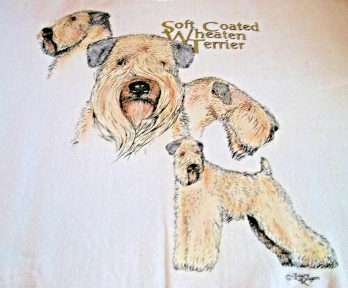 """Soft Coated Wheaten Terrier T-shirt  """" Ash """" 3XL ( 54 ~ 56 )"""