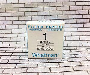 Whatman Filter Paper 1 42.5 mm 100 Circles Qualitative Cat No. 1001 - 042