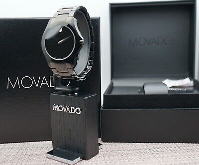 Swiss Movado Masino Black PVD Coated Stainless Steel Model # 0606486 Men's Watch