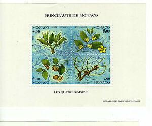 MONACO-Bloc-feuillet-N-68-LES-QUATRE-SAISONS-Neuf-1995