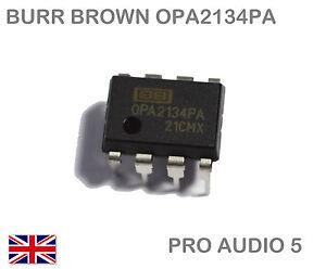 1x Burr Brown OPA2134PA OPA2134  Dual Audio OP-AMP I.C. DIP-8 - UK Fast Post