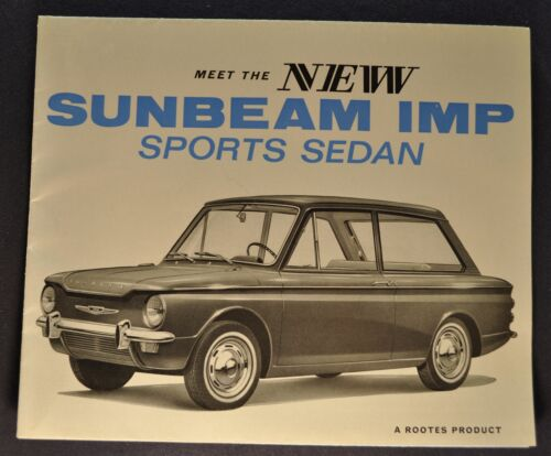 1964 Sunbeam Imp Sports Sedan Brochure Folder US Market Excellent Original 64