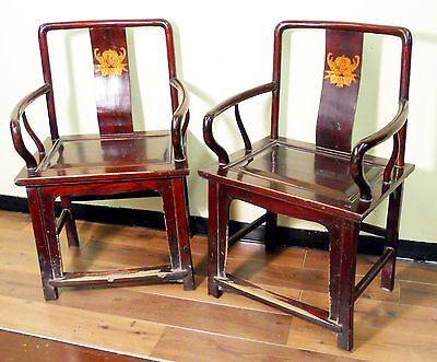 Antique Chinese Arm Chairs (3145) (Pair), Ming Style, Circa 1800-1849