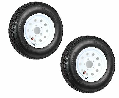 2-Pack Trailer Tire Rim ST175/80D13 175/80 B78-13 LRC 5 Lug White Modular Wheel