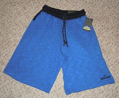 MEN SHORTS SPALDING SIZE S BLUE NWT DRAWSTRING TWO FRONT POCKETS  Drawstring Two Pocket Shorts