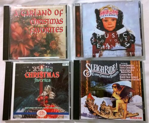 Lot of 4 Christmas CDs: Sleigh Ride!-Garland of Favorites~Music to Your Ears