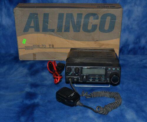 HAM Alinco HF Transceiver DX-70 with 12v DC Power cord, with box, works
