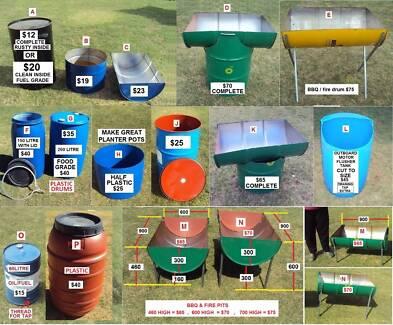 200 litre, 44 Gallon, Plastic or Steel Drums & 1000 Litre IBC ok Orelia Kwinana Area Preview