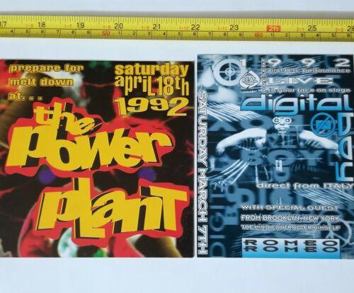 VINTAGE 1992 RAVE FLYER LOT POWER PLANT DIGITAL BOY EDM DOC MARTIN POSTER DJ edc
